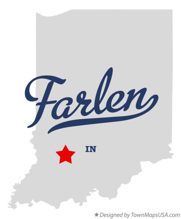 Map of Farlen Indiana IN