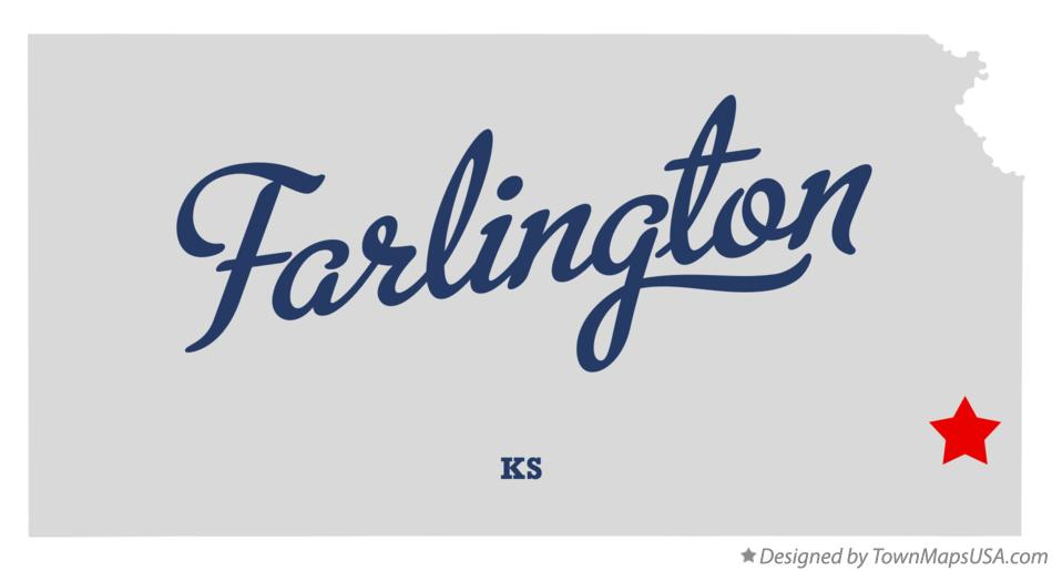 Map of Farlington Kansas KS