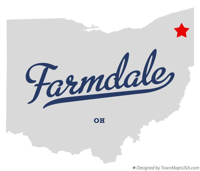 Map of Farmdale Ohio OH