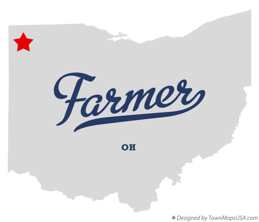 Map of Farmer Ohio OH