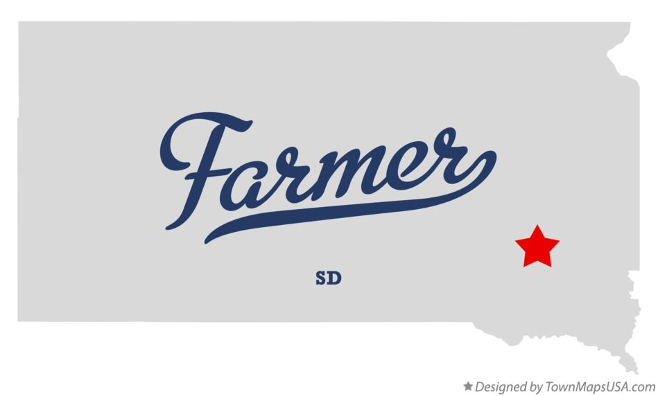 Map of Farmer South Dakota SD