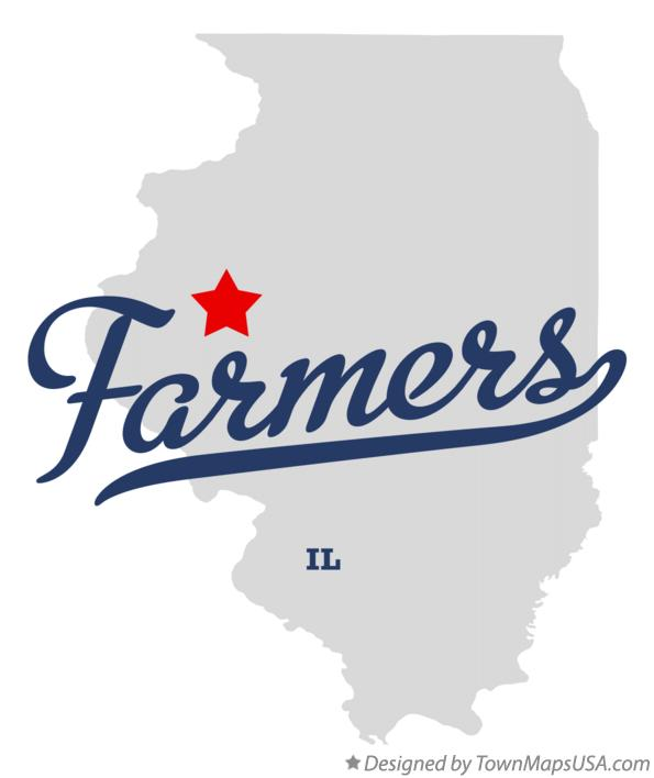Map of Farmers Illinois IL