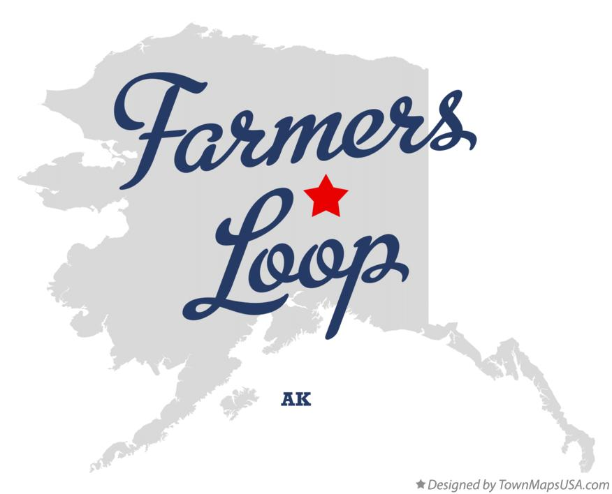Map of Farmers Loop Alaska AK