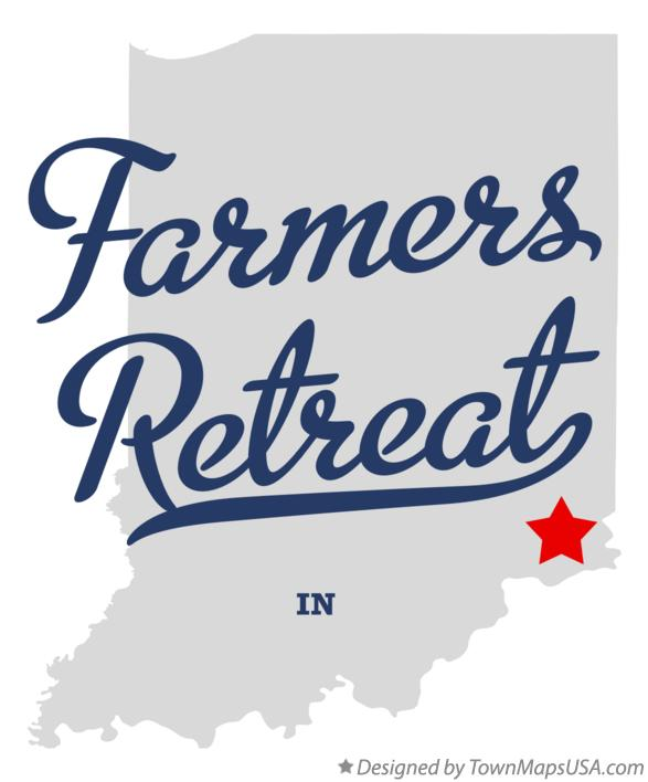 Map of Farmers Retreat Indiana IN