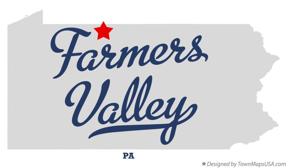 Map of Farmers Valley Pennsylvania PA