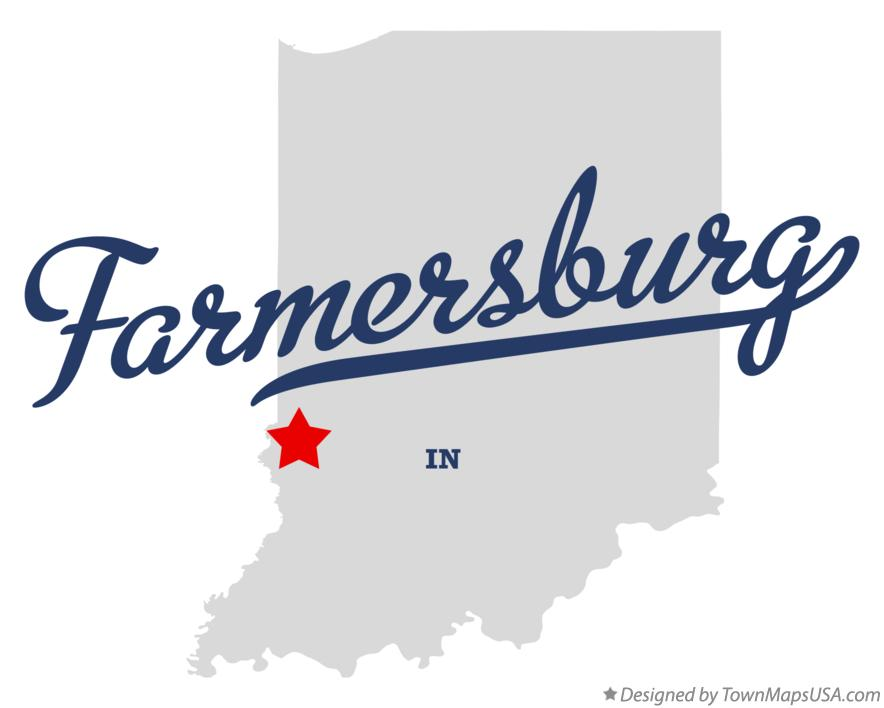 Map of Farmersburg Indiana IN
