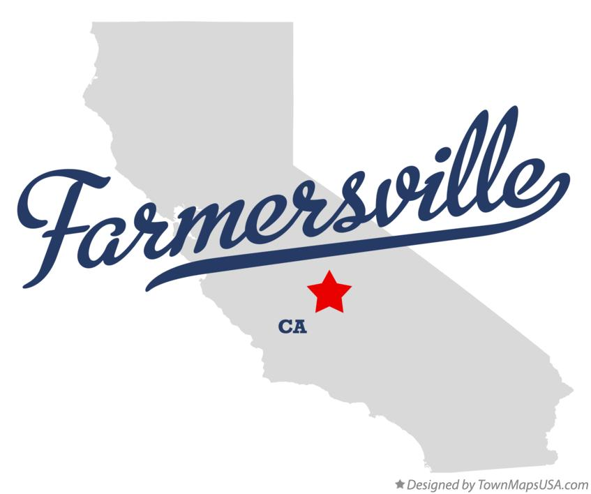 Map of Farmersville California CA