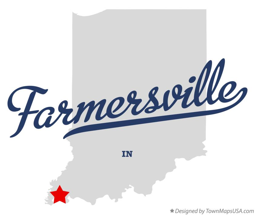 Map of Farmersville Indiana IN
