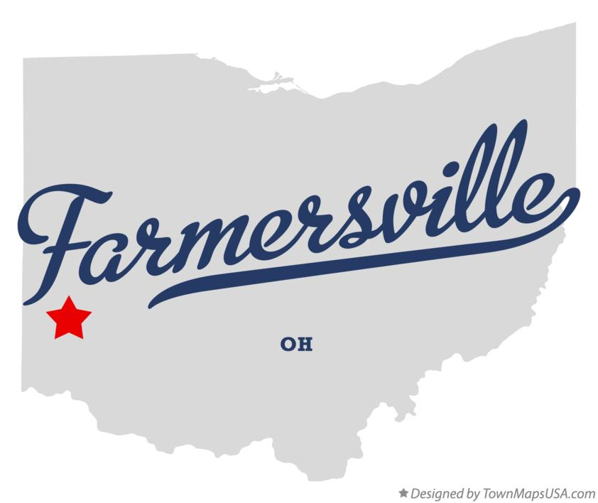 Map of Farmersville Ohio OH