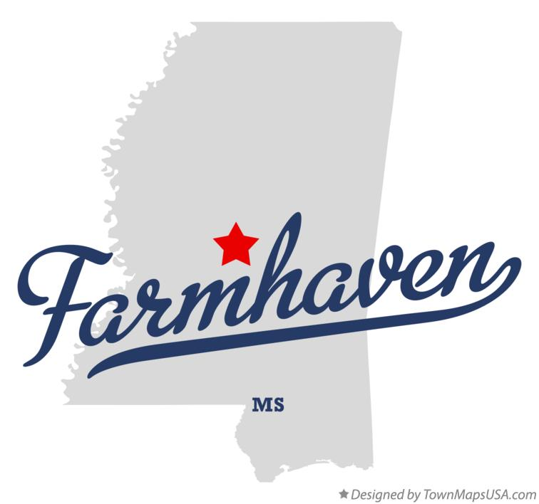 Map of Farmhaven Mississippi MS
