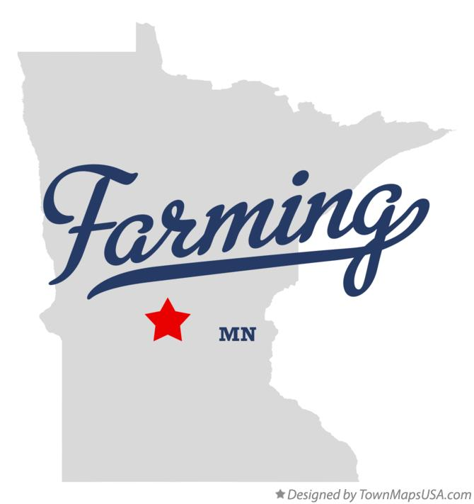 Map of Farming Minnesota MN
