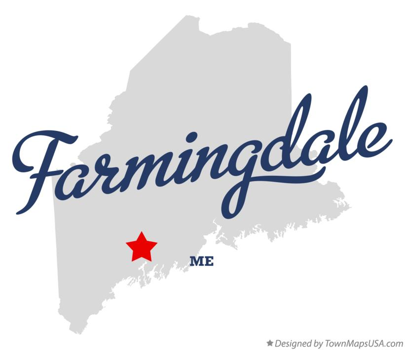 Map of Farmingdale Maine ME