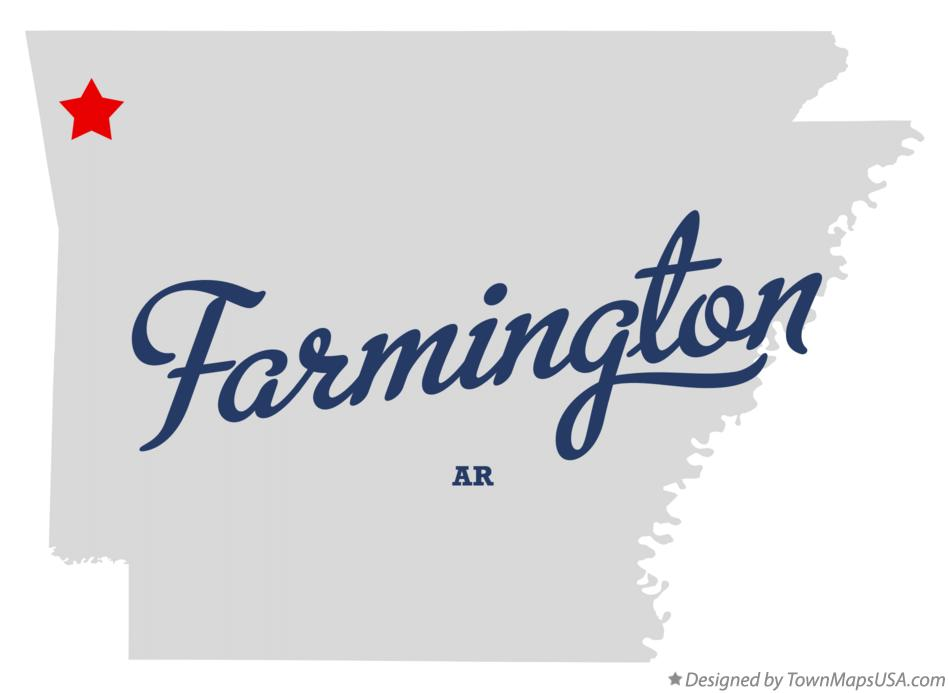 Map of Farmington Arkansas AR