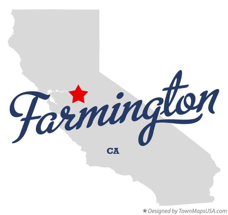 Map of Farmington California CA
