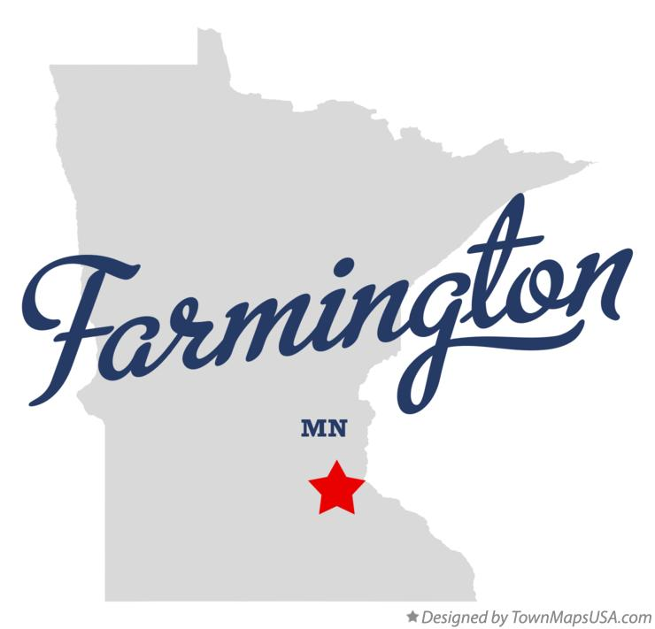Map of Farmington Minnesota MN
