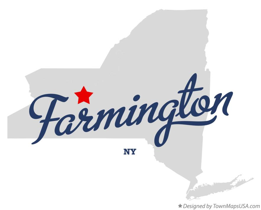 Map of Farmington New York NY