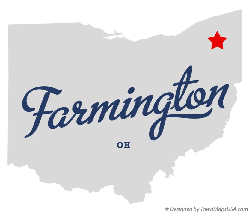 Map of Farmington Ohio OH