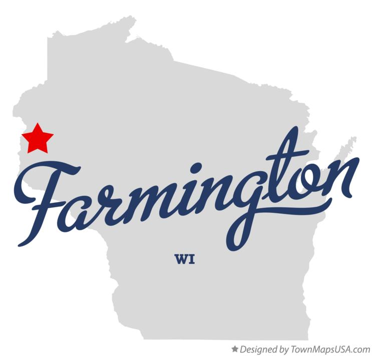 Map of Farmington Wisconsin WI
