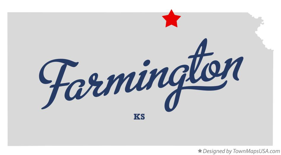 Map of Farmington Kansas KS