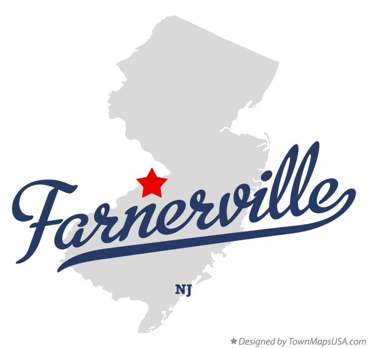 Map of Farnerville New Jersey NJ