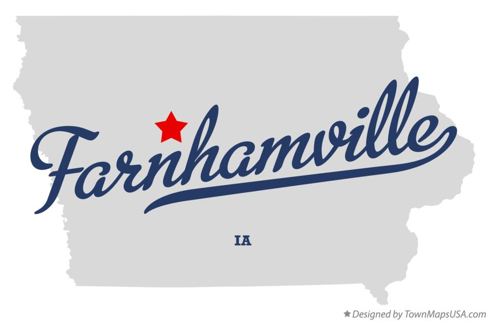Map of Farnhamville Iowa IA