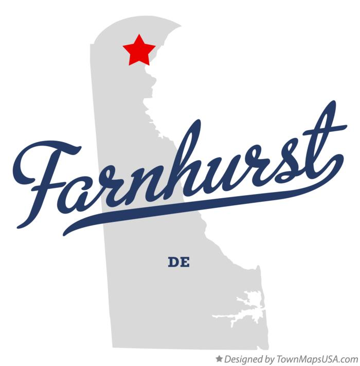 Map of Farnhurst Delaware DE