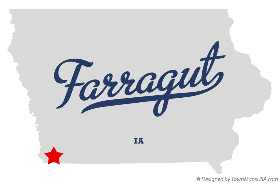 Map of Farragut Iowa IA