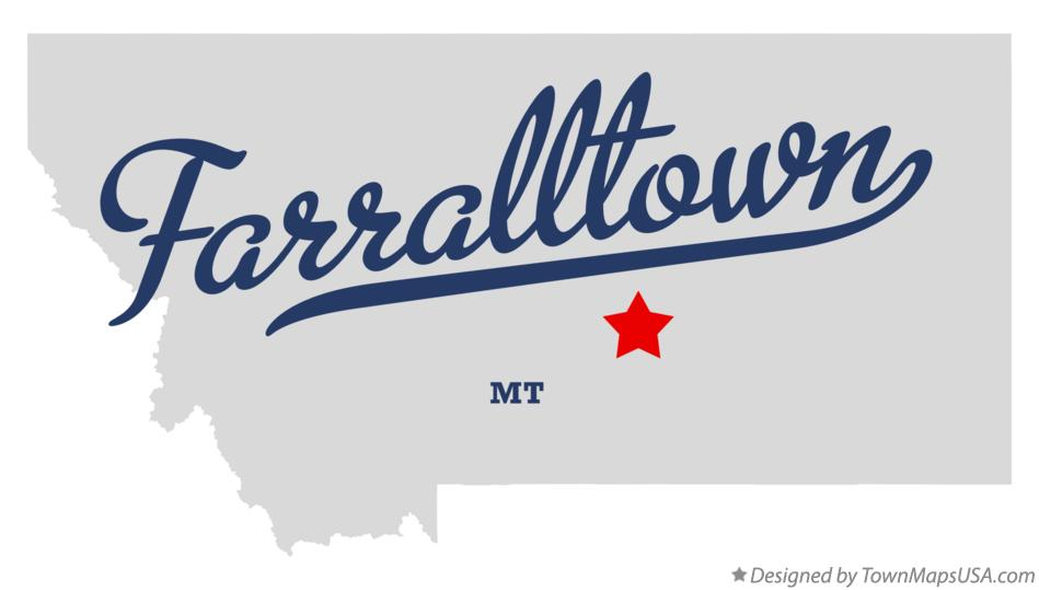 Map of Farralltown Montana MT