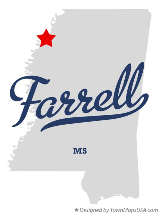 Map of Farrell Mississippi MS