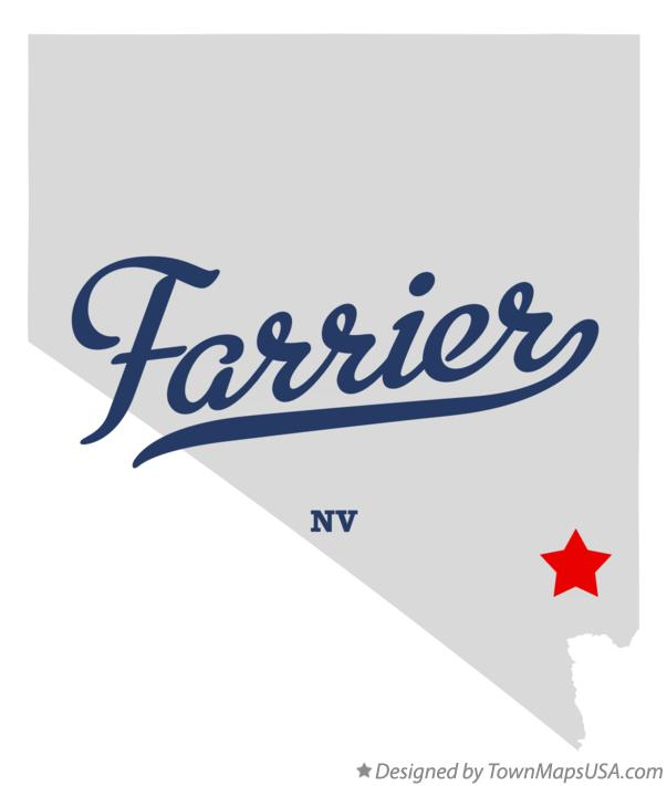Map of Farrier Nevada NV