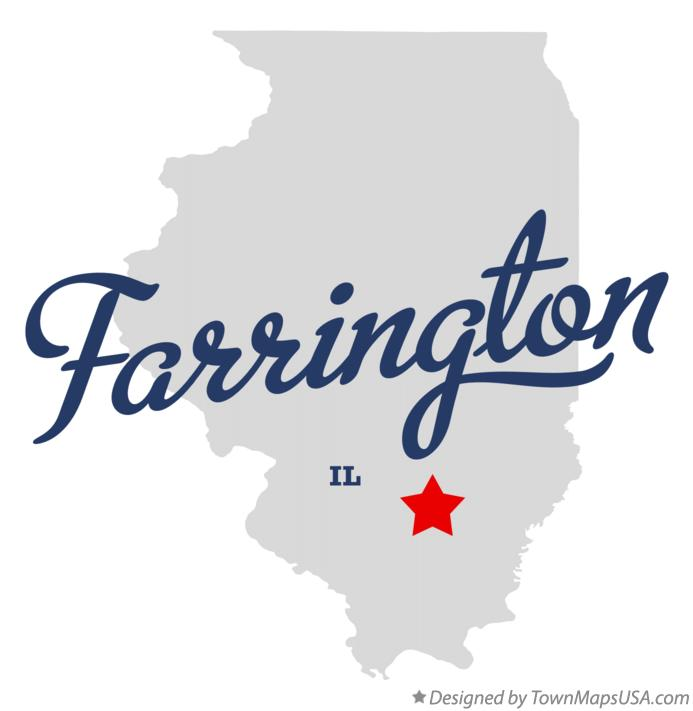 Map of Farrington Illinois IL