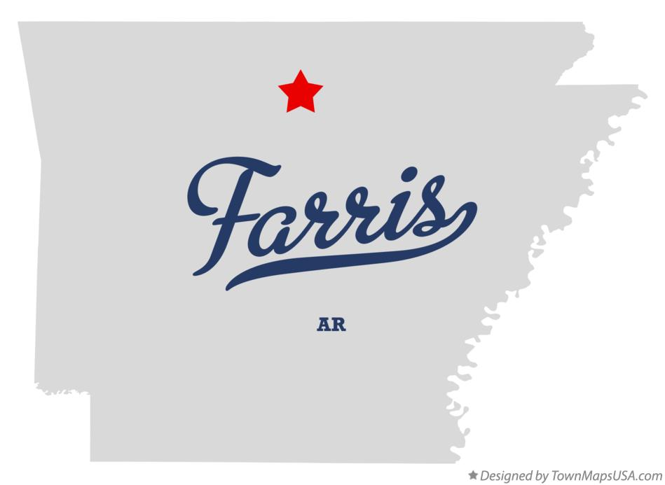 Map of Farris Arkansas AR