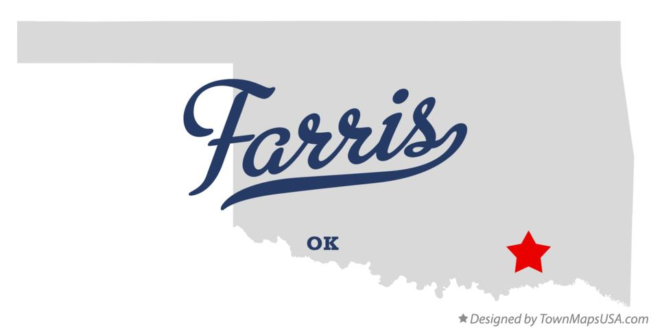 Map of Farris Oklahoma OK