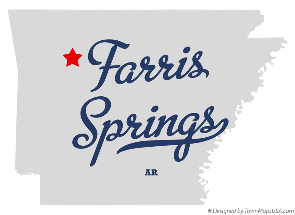Map of Farris Springs Arkansas AR