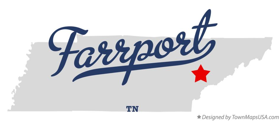 Map of Farrport Tennessee TN