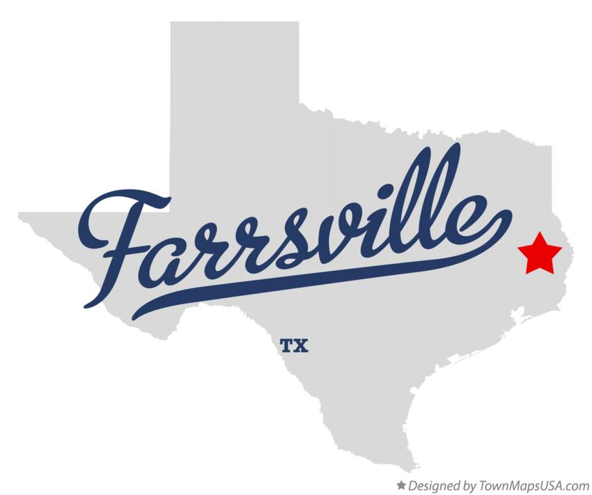 Map of Farrsville Texas TX