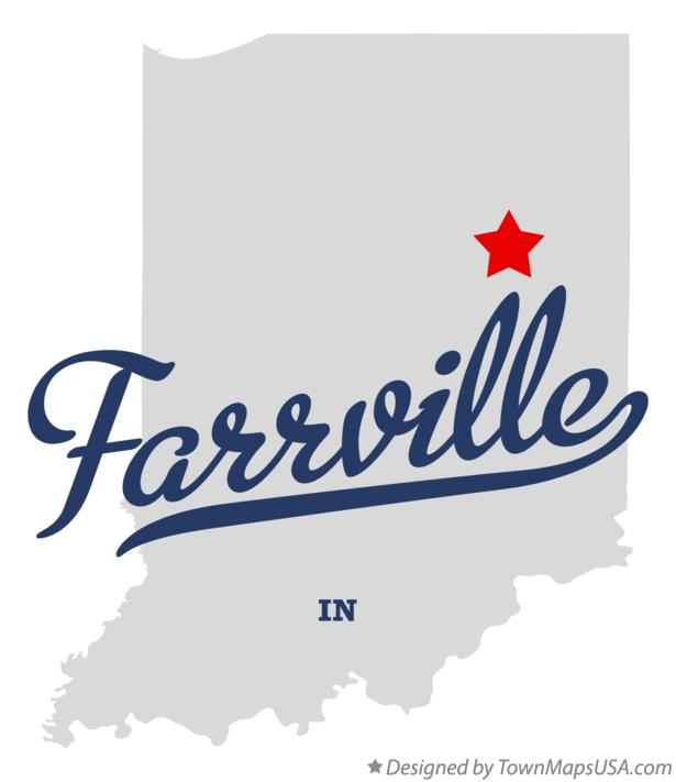 Map of Farrville Indiana IN