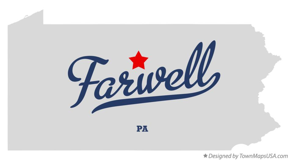 Map of Farwell Pennsylvania PA