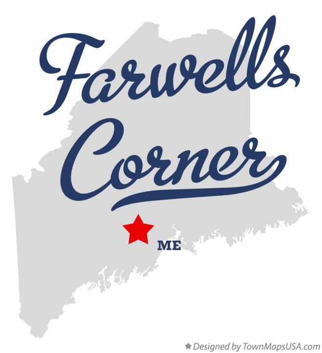 Map of Farwells Corner Maine ME