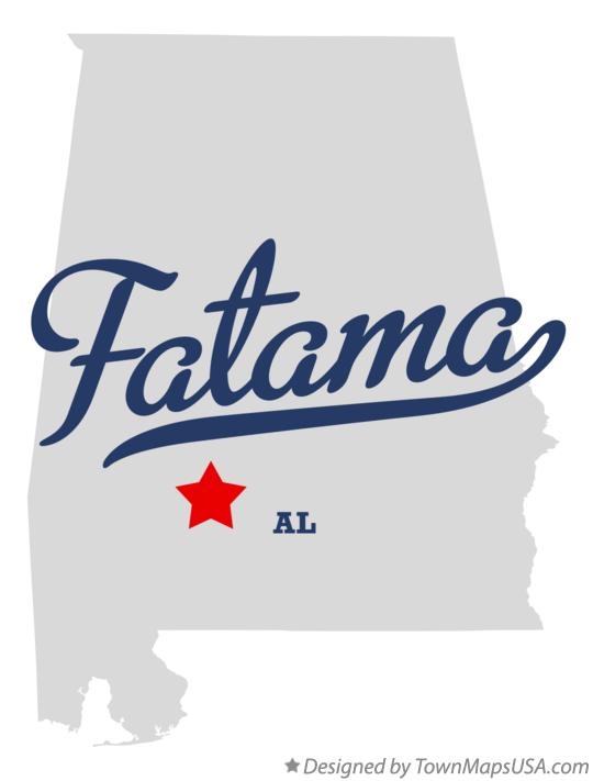 Map of Fatama Alabama AL