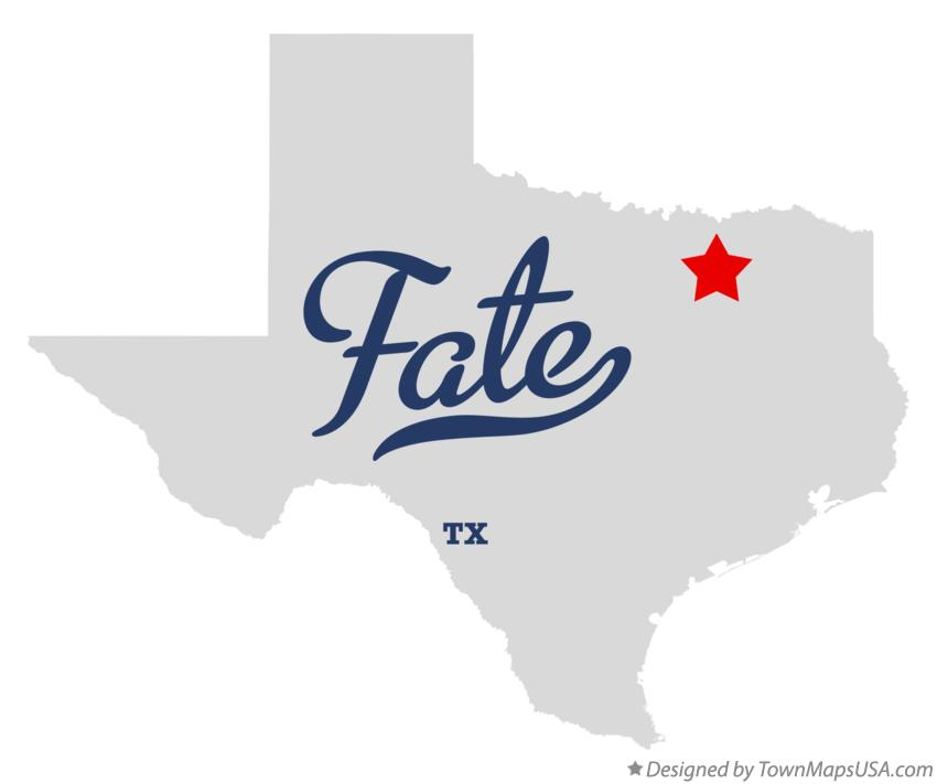 Map of Fate Texas TX
