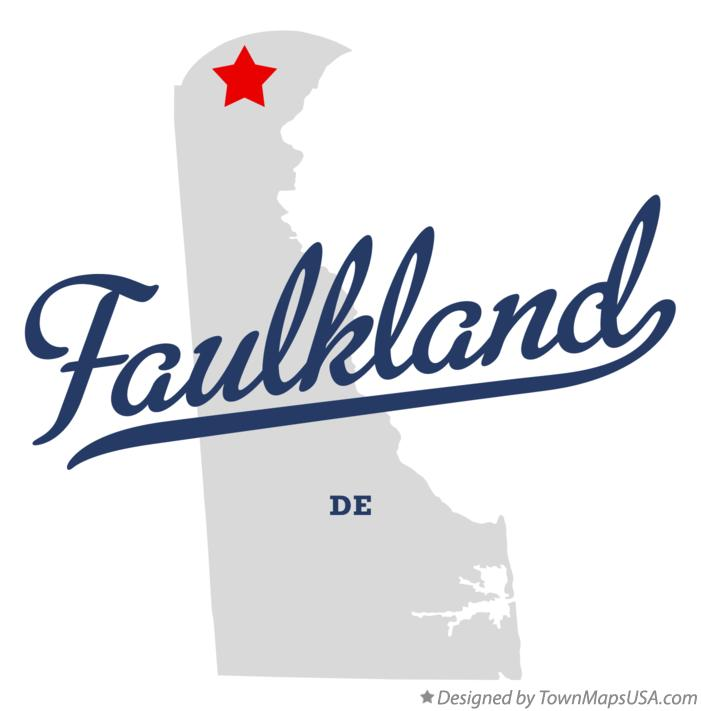 Map of Faulkland Delaware DE