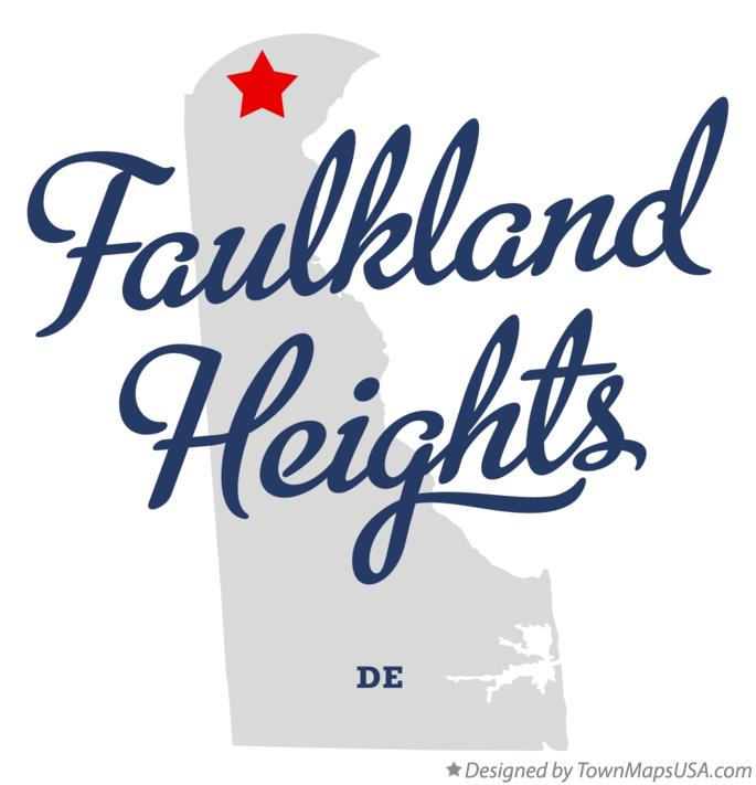 Map of Faulkland Heights Delaware DE