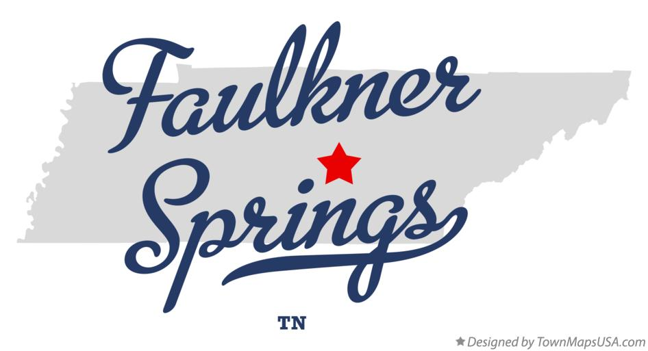 Map of Faulkner Springs Tennessee TN
