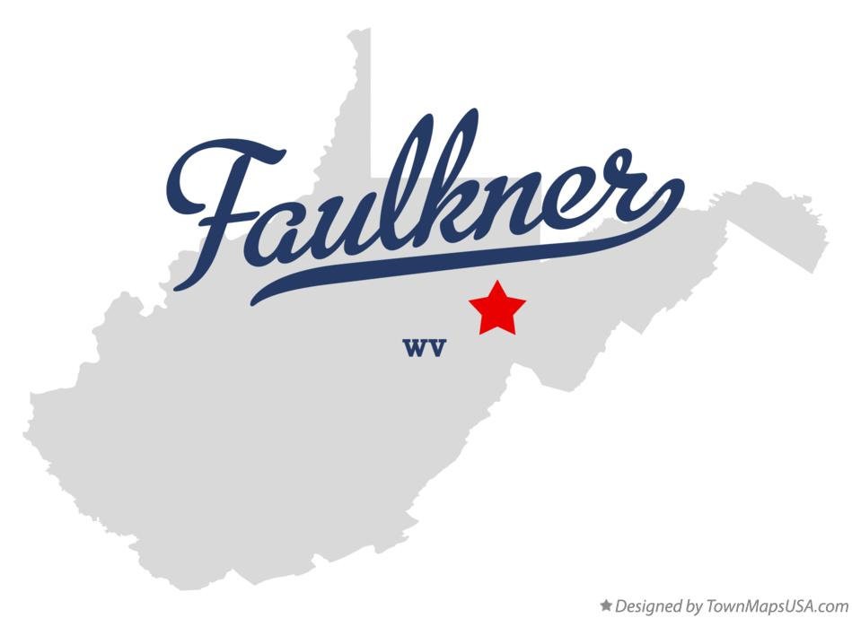 Map of Faulkner West Virginia WV