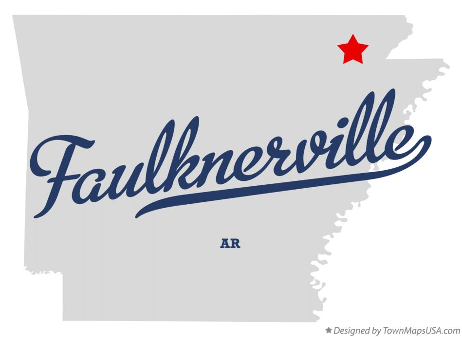 Map of Faulknerville Arkansas AR