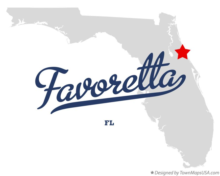 Map of Favoretta Florida FL