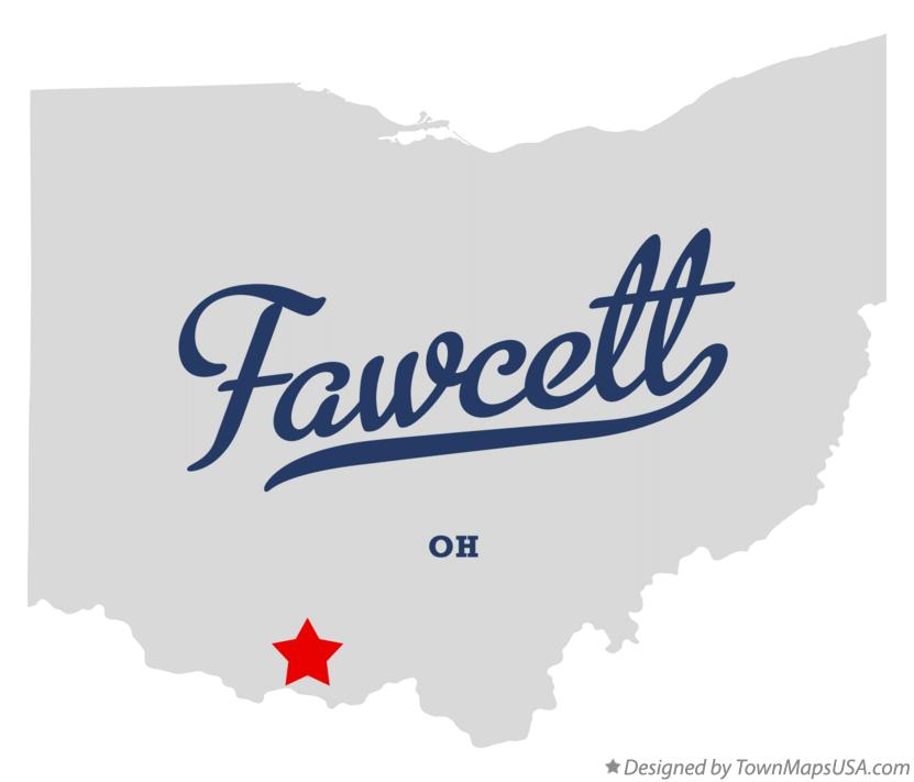 Map of Fawcett Ohio OH