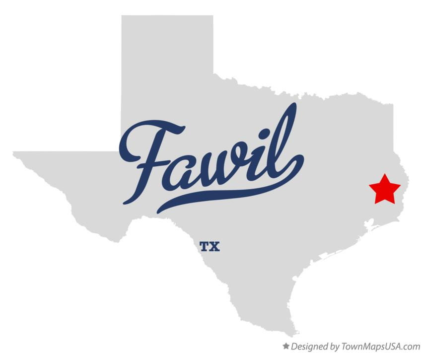 Map of Fawil Texas TX
