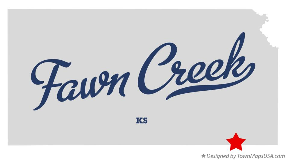 Map of Fawn Creek Kansas KS